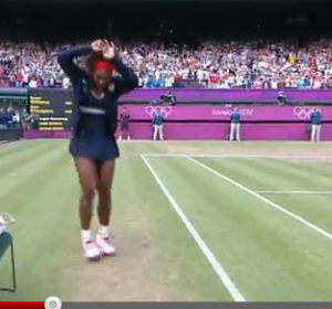 Serena busts a move (http://www.nbcolympics.com/video/tennis/highlights-serena-williams-dancing-after-winning-gold.html)
