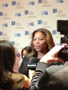 Queen Latifah, a 2014 Matrix Honorees, on the red carpet