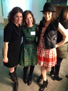Marni Raitt of DiGennaro & Partners, BYOBP co-author Jessica Kleiman and Emily Blumenthal of Handbag Designer 101