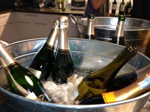 Lots of bubbly, compliments of Meryl's fab clients
